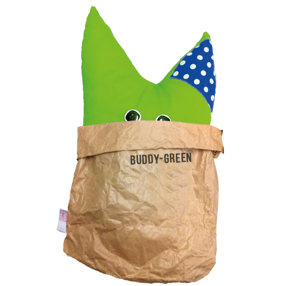Mijn Buddy - buddy-green bag